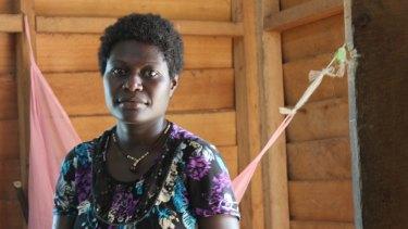 A PNG woman,  Leoba Devana, jailed for abortion, in Bekut jail, Buka, Bougainville.