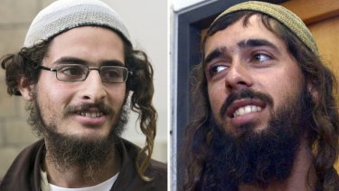 Meir Ettinger (left) and Evyatar Slonim, both in administrative detention in Israel for their alleged membership of Jewish extremist group The Revolt.