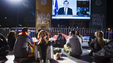 Spanish Prime Minister Mariano Rajoy addresses the nation after the banned Catalan referendum.