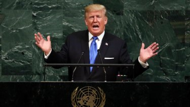 US President Donald Trump fires insults at Kim Jong-un at the 72nd session of the United Nations General Assembly.