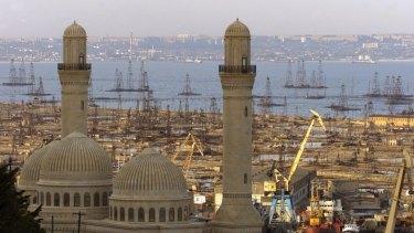 Baku, the capital of Azerbaijan, in 2002.