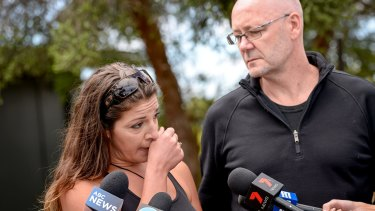 Mel and Tony Christensen speak to reporters about their ordeal