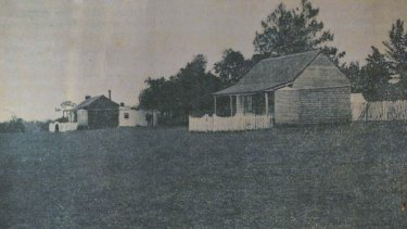 Two of the dwellings at the mission station at Lake Condah, where the five Lovett brothers stayed.