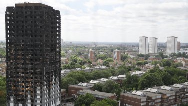 The burnt-out shell of the Grenfell Tower apartment building in London, following a fire that left more than 80 people dead.