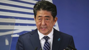 Japan's Prime Minister Shinzo Abe. Tokyo is weighing its strategic options in response to the Korean crisis.