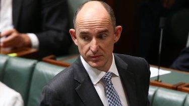 Stuart Robert in Parliament House in Canberra.