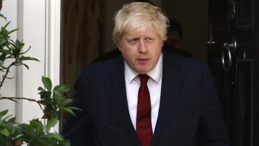 Conservative MP Boris Johnson leaves his house after British Prime Minister David Cameron resigned following the results of the EU referendum.