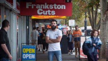 Stereo Espresso owner Les Hunter in the federal seat of Dunckley.