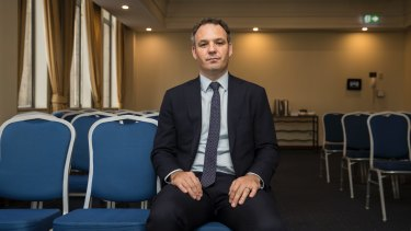 Topshop Australia administrator Ryan Eagle, of Ferrier Hodgson, ahead of a creditors' meeting last month.