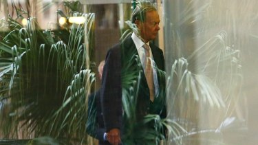 Former Knox Grammer headmaster Dr Ian Paterson arrives to the Royal Commission into Institutional Responses to Child Sexual Abuse on Wednesday.