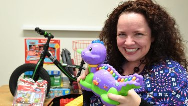 Hannah Richardson is preparing to sell unwanted children's toys ahead of the influx of Christmas gifts.
