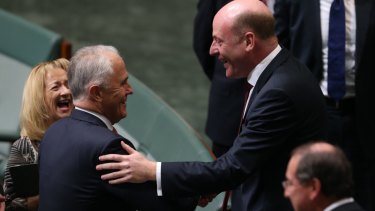 Prime Minister Malcolm Turnbull attended Mr Zimmerman's speech to the House of Representatives.