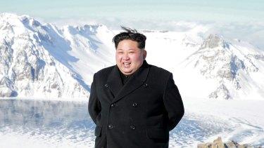 Mount Paektu put on fine weather especially for the North Korean leader Kim Jong-un's climb on Saturday.