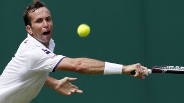 Radek Stepanek, during his match against his friend Nick Kyrgios at Wimbledon on Tuesday.
