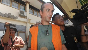 David Taylor arriving at Denpasar District Court earlioer on Tuesday.