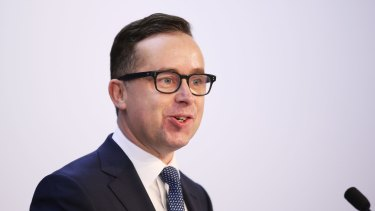 Qantas Chief executive Alan Joyce delivers a record profit.