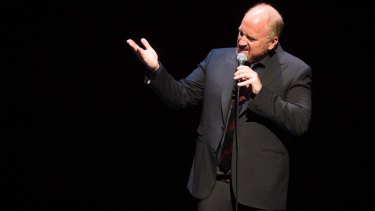 Comedian Louis C.K. performs at a benefit for veterans with PTSD at New York City Center last year.