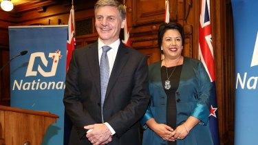 NZ Prime Minister Bill English and deputy Paula Bennett.