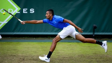 Urged to keep his cool: Nick Kyrgios is predicted to go deep in the Wimbledon championship but needs to keep his temper in check.
