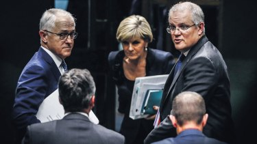 Prime Minister Malcolm Turnbull, Foreign Minister Julie Bishop and Treasurer Scott Morrison.