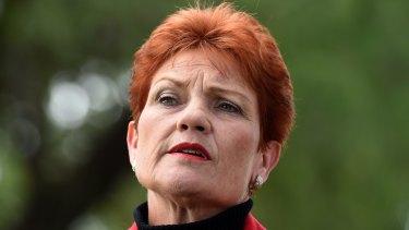 Pauline Hanson on Monday.