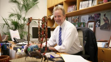 Indigenous Affairs Minister Nigel Scullion in his office at Parliament House.