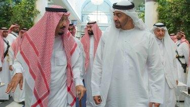 Yemen coalition: King Salman of Saudi Arabia, left, with UAE Crown Prince Mohammed bin Zayed al-Nahyan.