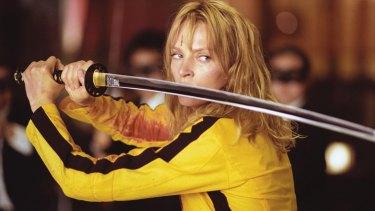 Uma Thurman in Quentin Tarantino's <i>Kill Bill</i>.