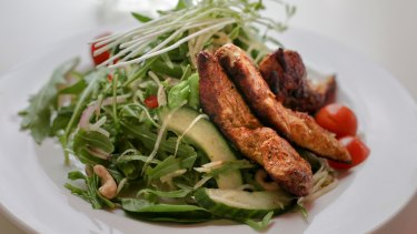 The paleo diet is described as high in protein, but low in carbohydrates.