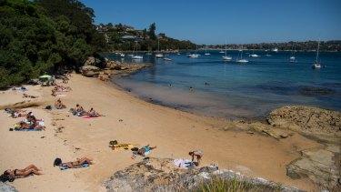 Milk Beach in Vaucluse, one of Australia's most affluent suburbs.