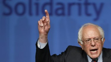 Democratic presidential candidate Bernie Sanders talks about the growing divide between the rich and the poor in the US and the damage it does to social cohesion. There is no mould-breaking politician like him in Australia.