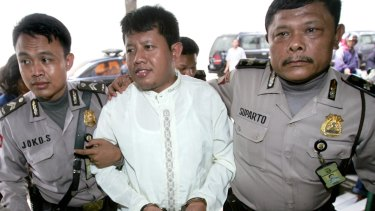 Convicted Indonesian militant Hasanuddin before his trial in 2007.