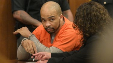 Ohio serial killer Michael Madison in the courtroom after the death sentence was imposed.