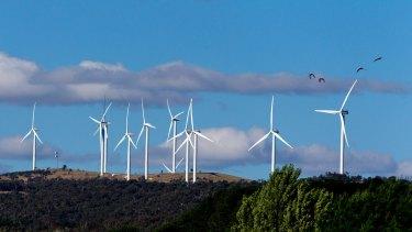 Wind turbines near Bungendore.