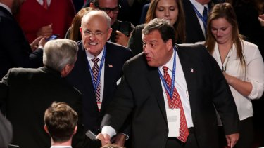 Centre, from left: Rudy Giuliani and Chris Christie are likely to named in Trump's cabinet.