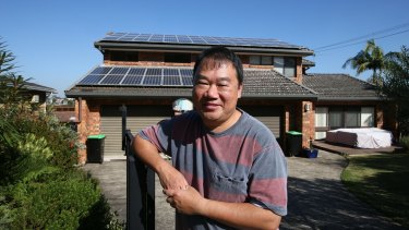 Michael Kwan at his Killarney Heights home, where he has recently installed a smart meter in time for the end of the NSW solar bonus scheme.