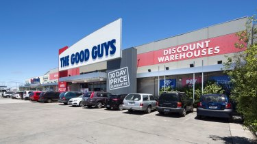 The Good Guys store in Geelong is one of nine stores leased to the electronics and whitegoods chain which have sold to private investors and a Sydney-based fund manager.