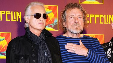 Successful defence ... Led Zeppelin's guitarist Jimmy Page, left, and singer Robert Plant denied hearing the Spirit song Taurus before writing <i>Stairway to Heaven</i>.