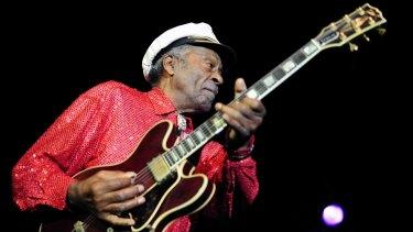 US rock 'n' roll legend Chuck Berry.