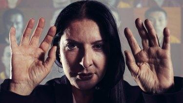 "Push the pain away: Marina Abramovic describes herself as a ""warrior""."