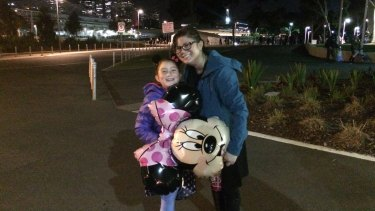 Mai Kelly with daughter Zara after last year's Disney On Ice production.