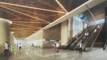 An artists impressions of the CBD North Station.