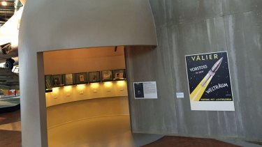 Entrance to the V2 rocket display at Deutsches Technikmuseum Berlin.