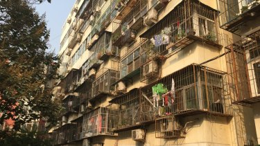 A typical residential apartment block in Beijing.