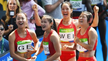 The Chinese team, shortly before they were bumped out of the final.