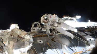 Tim Peake takes part in his  spacewalk to replace a failed power regulator and install cabling for the International Space Station on Friday.The meticulously planned and executed sortie was stopped early.