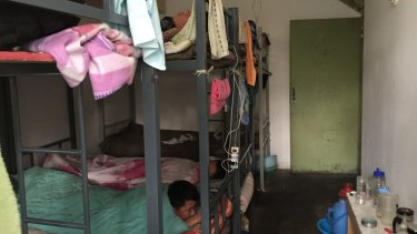 A two-bedroom apartment in poor repair used as a makeshift worker's dormitory has an asking price of $650,000 and up.