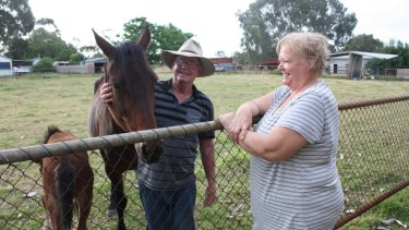 Herne Hill resident Carmel Byrne lets Steve Blake keep his horses on her property to keep the grass down.