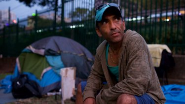 """""""Why can't we put a tent on our land?"""": Jamie says he does not want handouts."""