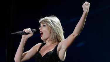 Taylor Swift performs during her '1989' World Tour in Sydney.